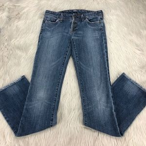 COH Exposed Button Fly Slim Bootcut Jeans